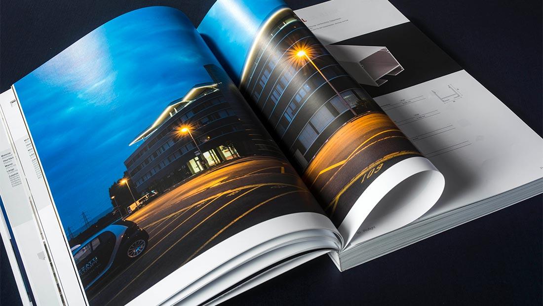 Catalogo Proflight 2016, reportage ed impaginazione