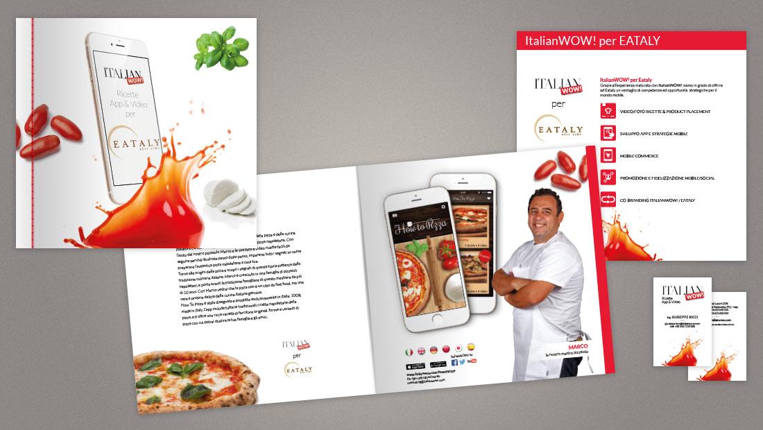 Italian WOW - Brochure promozionale, biglietto da visita e flyer