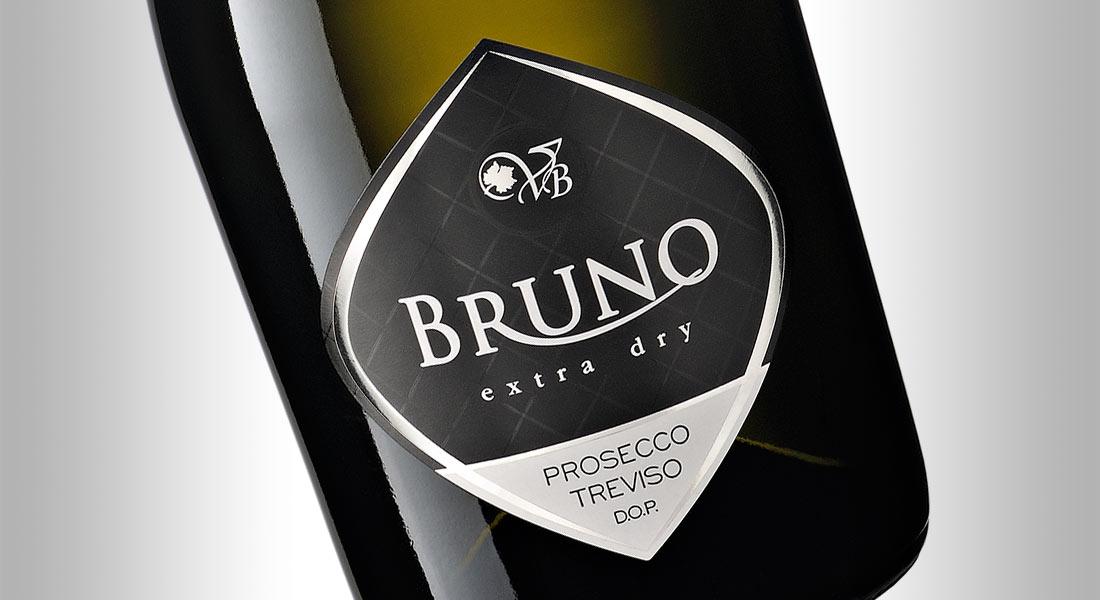 Bruno: etichetta prosecco Treviso DOP - Ph.: studioparravicini.com