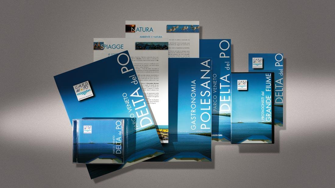 Consorzio Albergatori del Delta del Po, cartellina, brochure e multimediali
