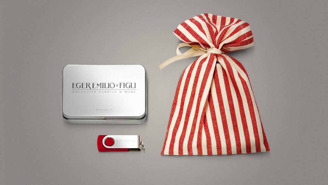 Eger: pack e personalizzazione chiavetta usb con PDF interattivo