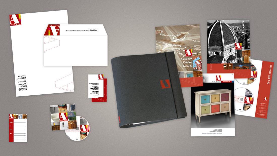 Abitare in Italia, logo e immagine coordinata e cataloghi