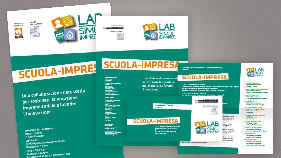 LAB Simulimpresa: locandina, banner, invito evento